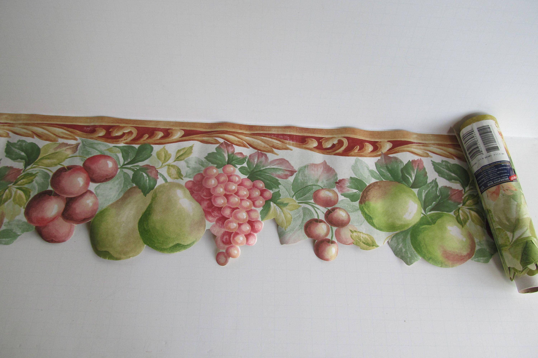 Vintage Wallpaper Boarder Colonial Wall Paper Fruit Border
