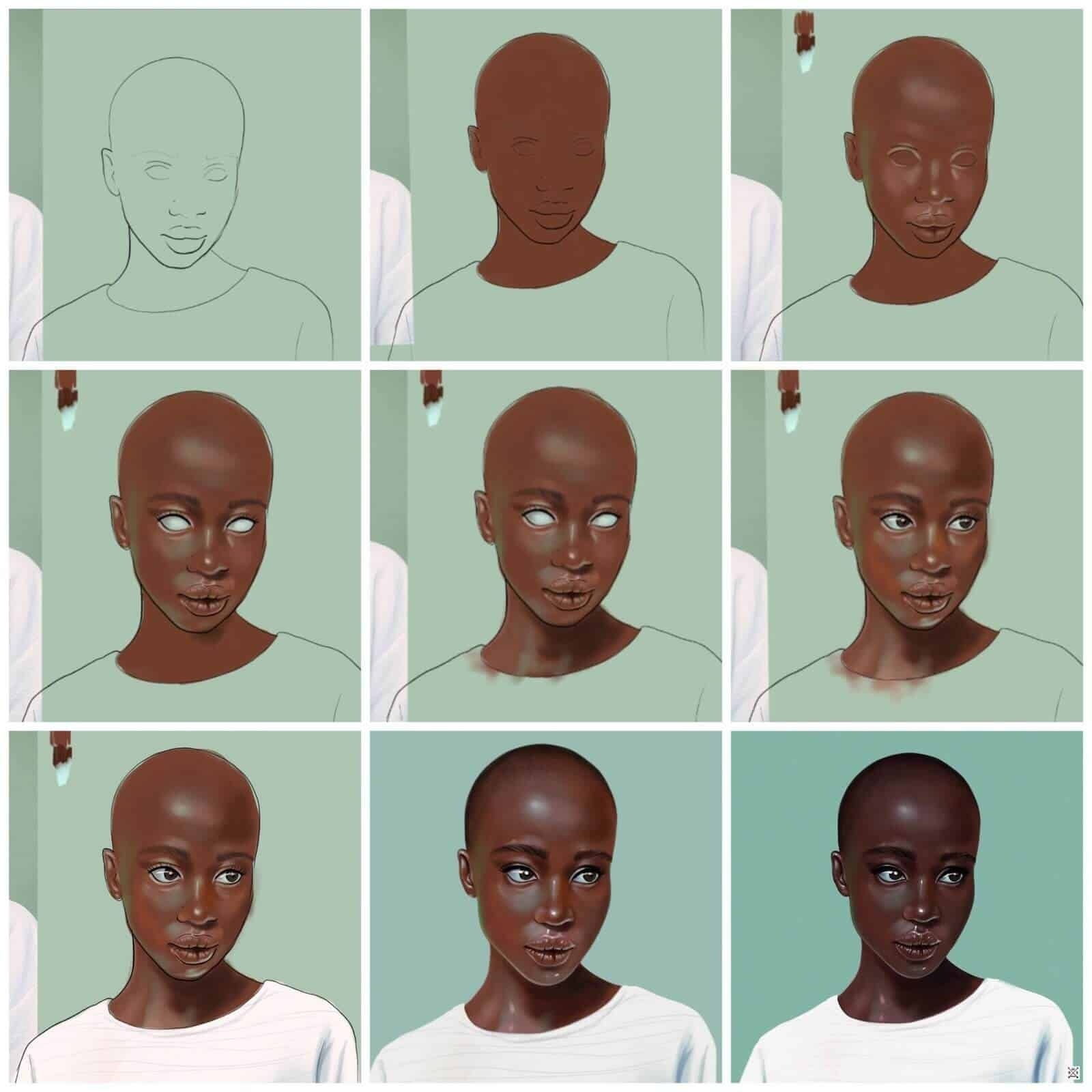 How To Paint These 21 Digital Portraits Step By Step With