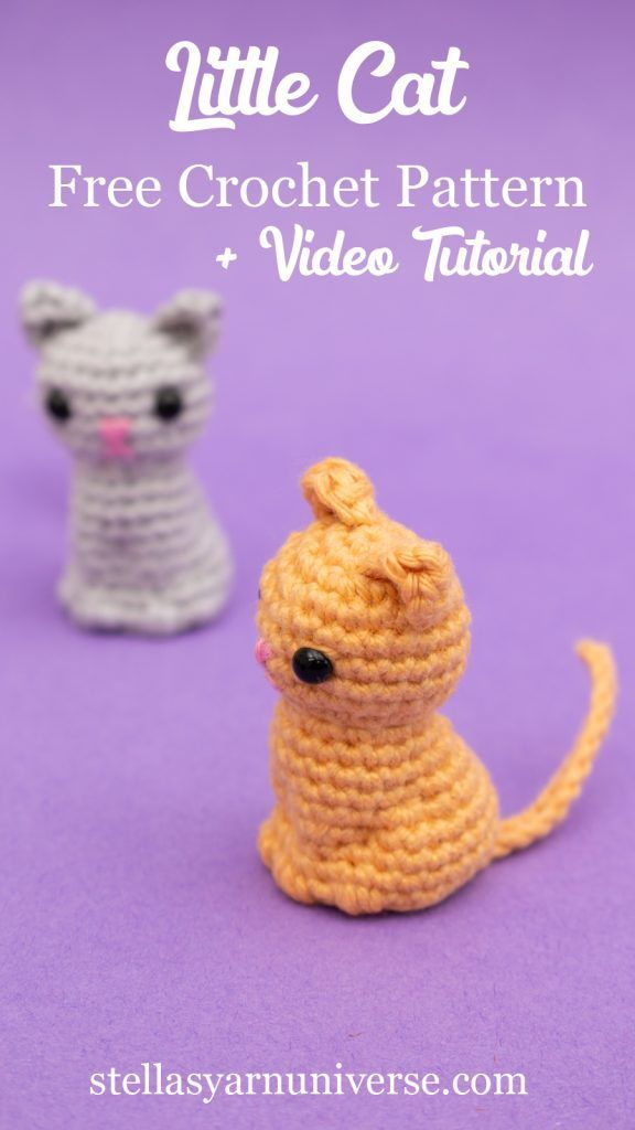 Little Amigurumi Cat Free Crochet Pattern