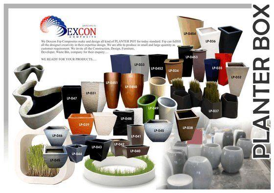 Frp Fiberglass Planter Pot From Dexcon Frp Composites Malaysia Macetas