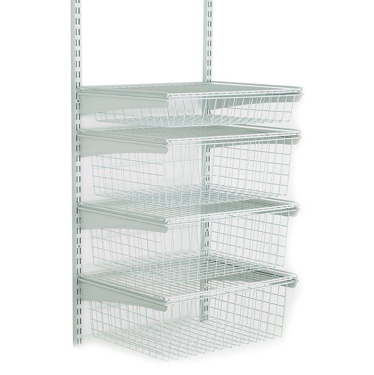 Shop ClosetMaid ShelfTrack 4-Drawer Wire Kit - White (52815) at ...