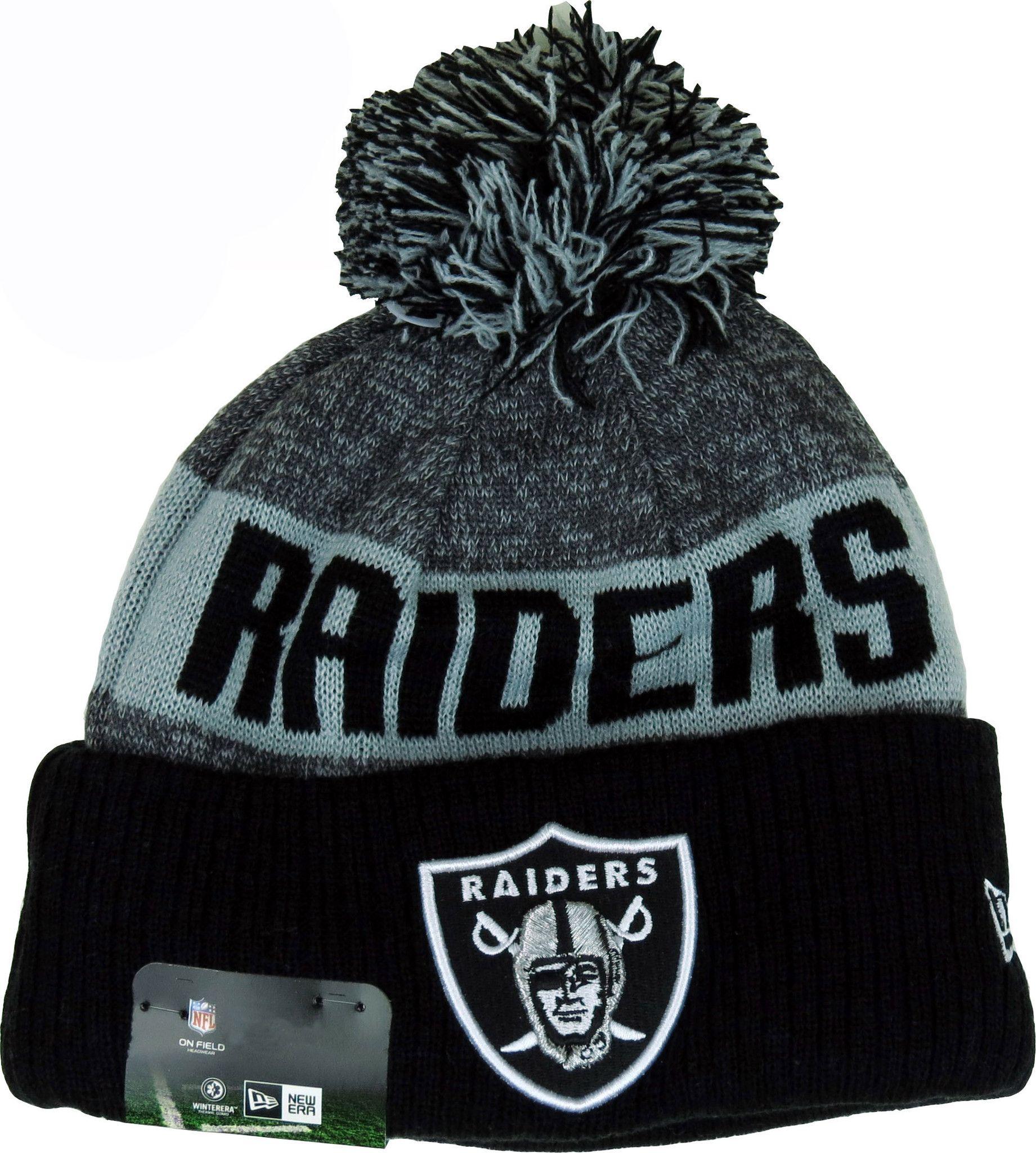 Oakland Raiders New Era NFL Sideline Sport Knit Bobble Hat