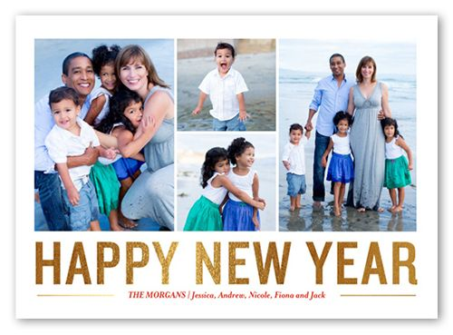 Golden New Year 5x7 Greeting Card New Year\u0027s Cards Shutterfly