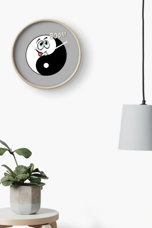 Halloween Yin Yang Wall Clock - Cute Ghost