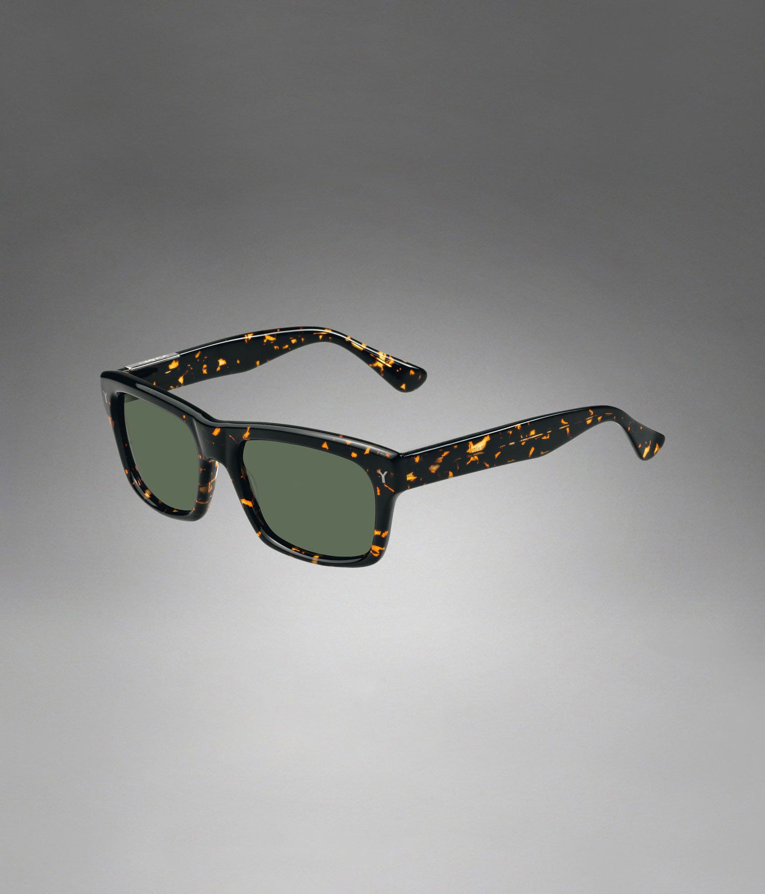 YSL Square Frame Sunglasses with Tortoise Shell Frame - Sunglasses – Men – Yves Saint Laurent