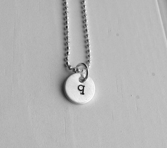 Sterling silver initial necklace tiny letter q by girlburkestudios sterling silver initial necklace tiny letter q by girlburkestudios 2250 aloadofball Gallery