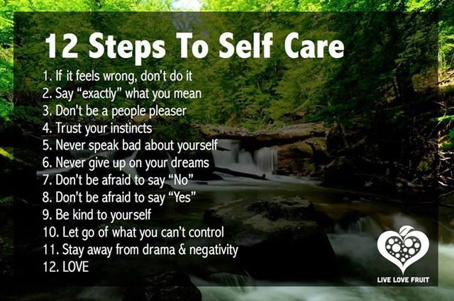 12 Steps to Self Care #infographic #health