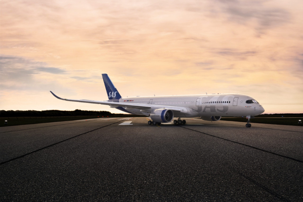 Sas First Airbus A350 Ingegerd Viking To Fly Its Inaugural Flight From Copenhagen To Chicago In 2020 Aircraft Sas Airbus