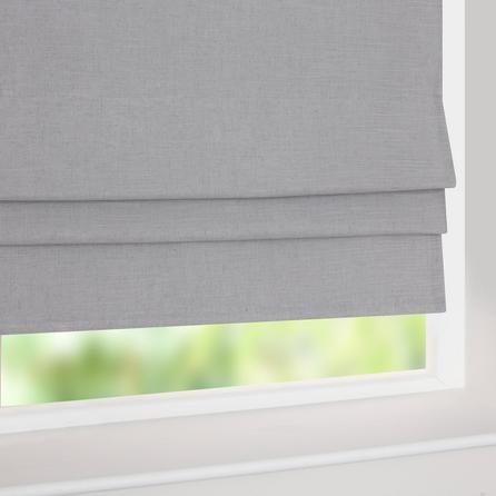 Grey Linen Blackout Roman Blind | Dunelm