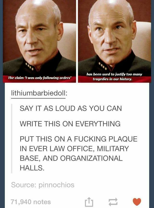 Photo of (personally, given that picard is someone who has used the prime directive to ju…