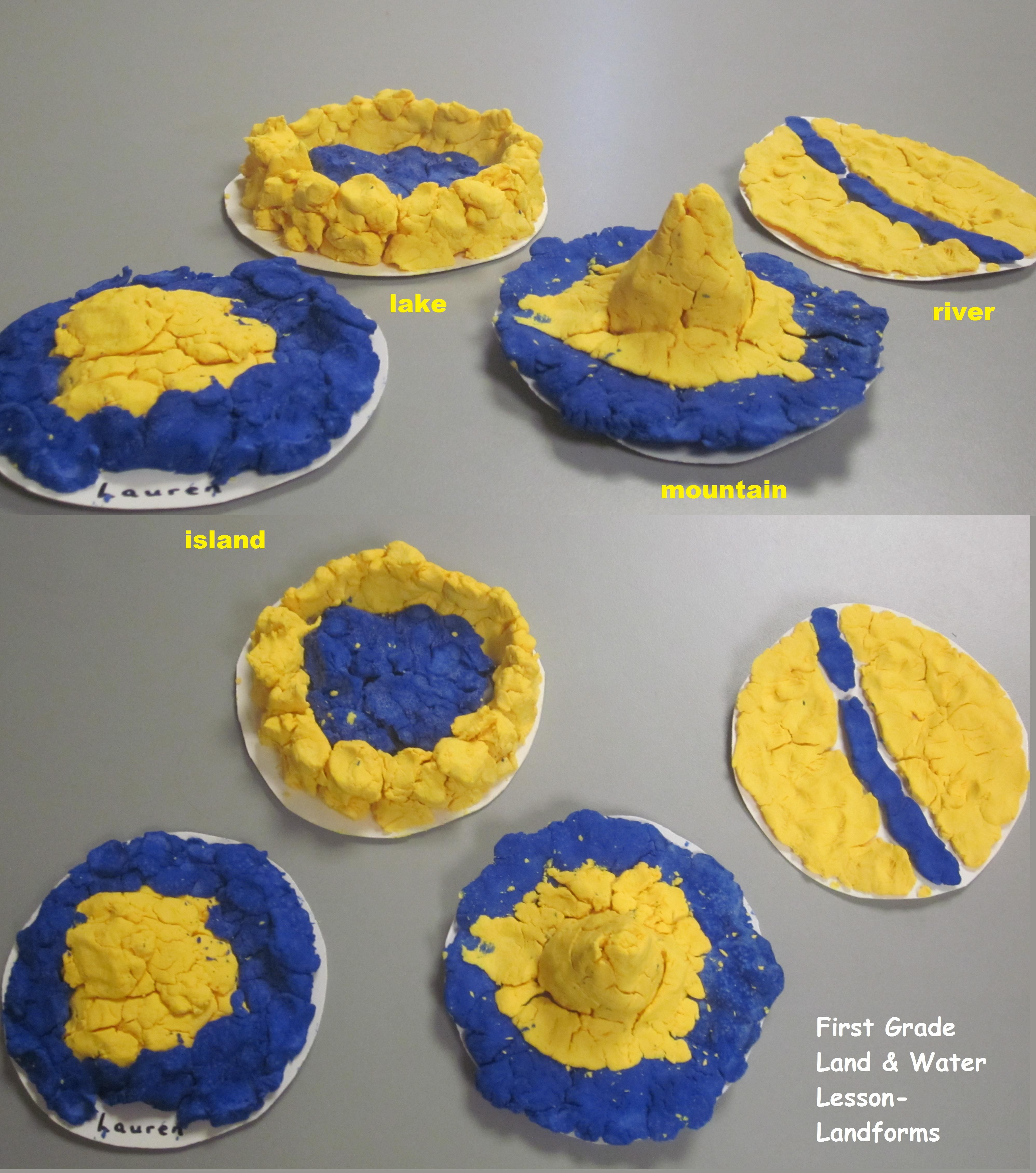 St Grade Land  Water Lesson Clay Landform Activity Students