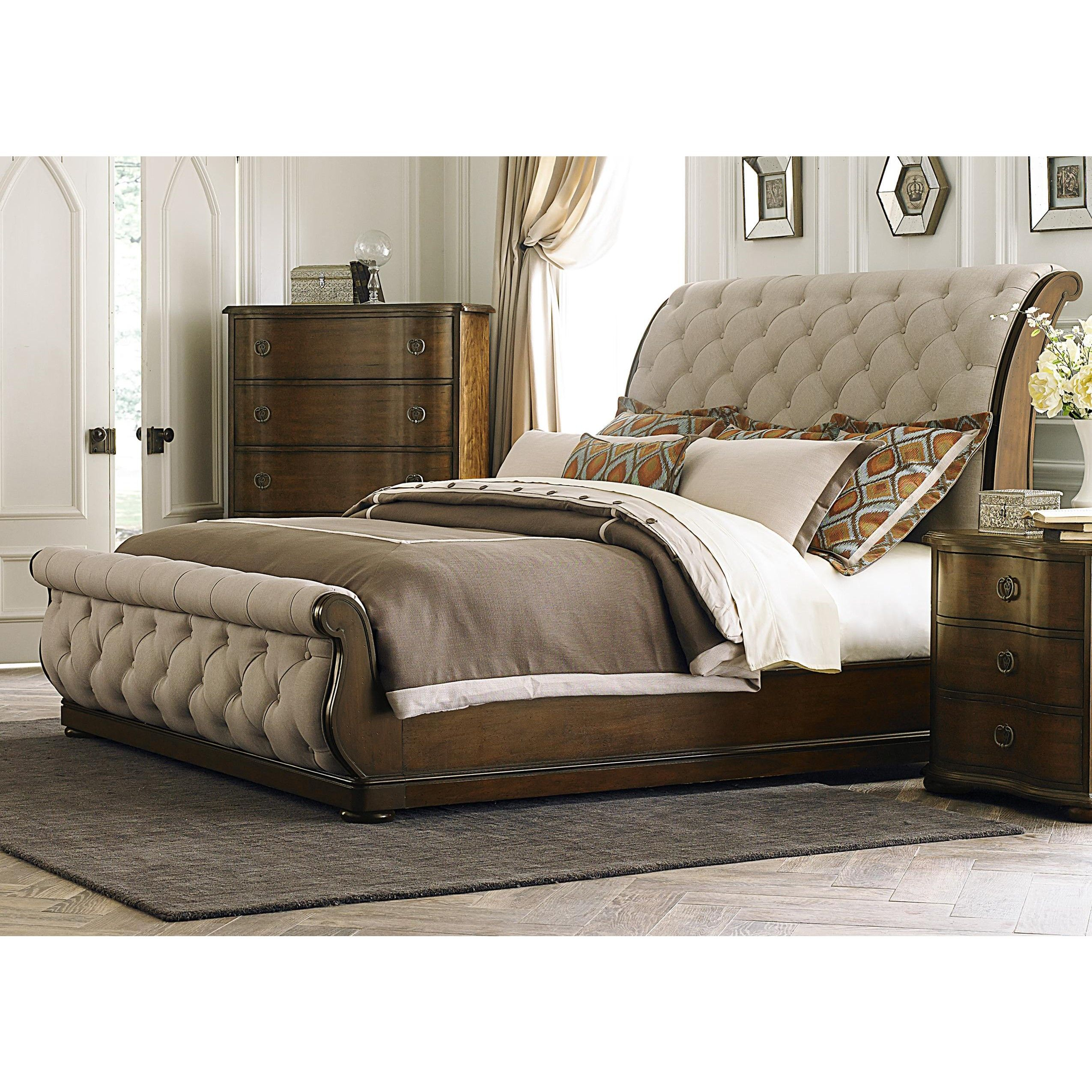 King Sleigh Bed Bedroom Sets Liberty Furniture Cotswold Upholstered Sleigh Bed 545 Br New
