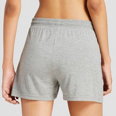 Women's Sleep Shorts - Medium Heather Gray S