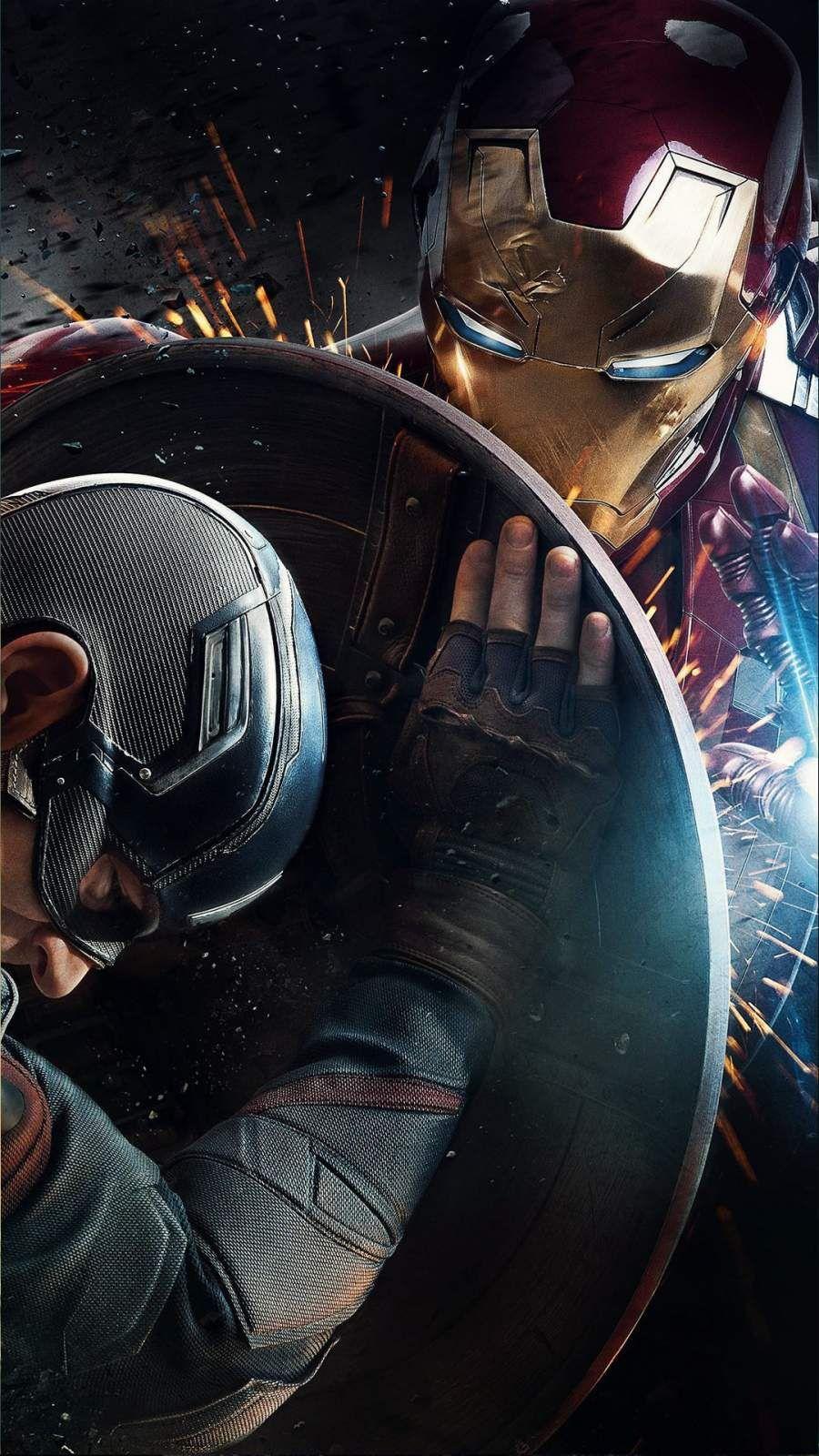 Iron Man Vs Captain America Civil War Iphone Wallpaper Iron Man Vs Captain America Captain America Wallpaper Marvel Wallpaper
