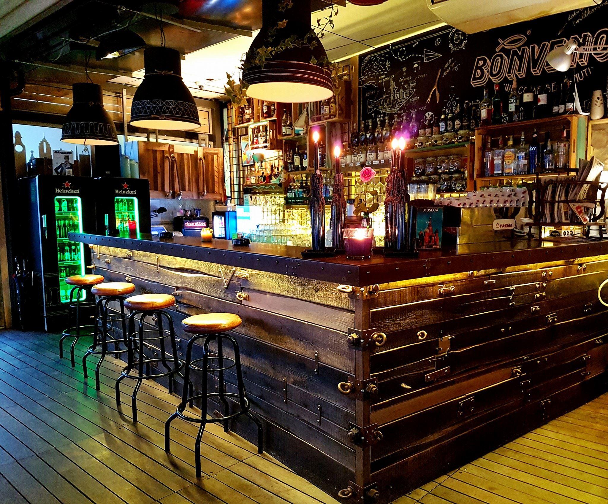 Bar Interiors Design Painting Caffe Bar Corto Maltese Rijeka Croatia  Bar Interiorszivot .