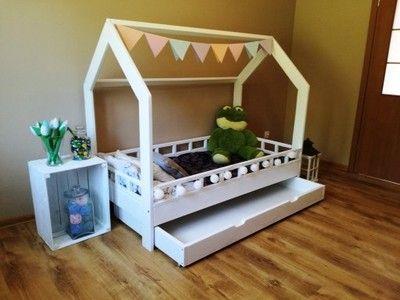 Lozko Domek 90x200 Lozeczko Dzieciece Drewno Kolor Girls Bedroom Toddler Bed Bed