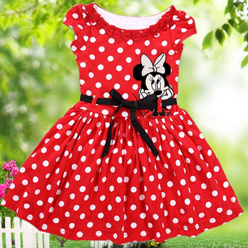 6944cb61c Toddler Baby Girls Kids Pageant Party Dress Mickey Mouse Polka Dot Dress  Gown #GL #Everyday