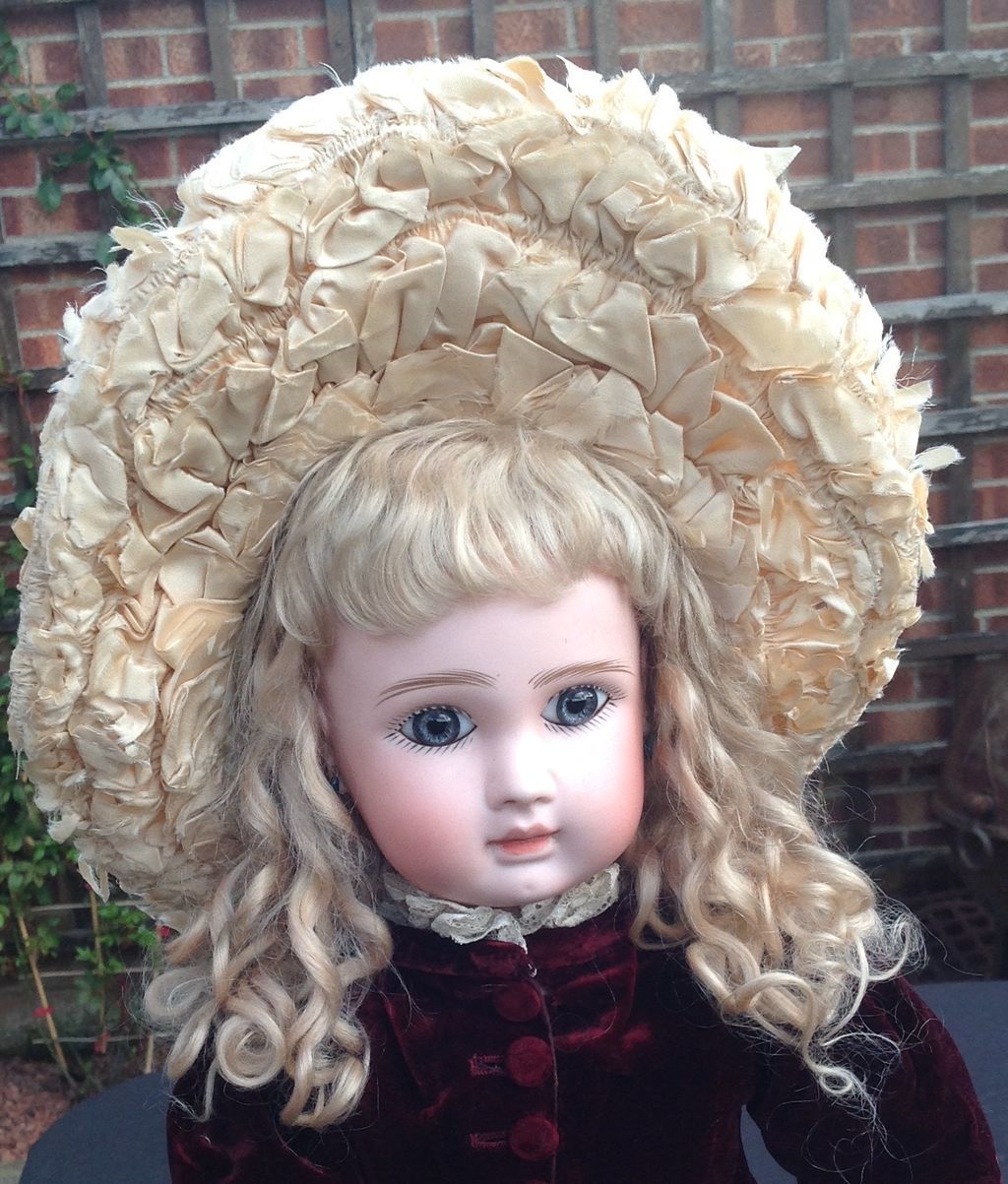 Original French wired Dolls Hat with Original Label from dollyweatherwax on Ruby Lane