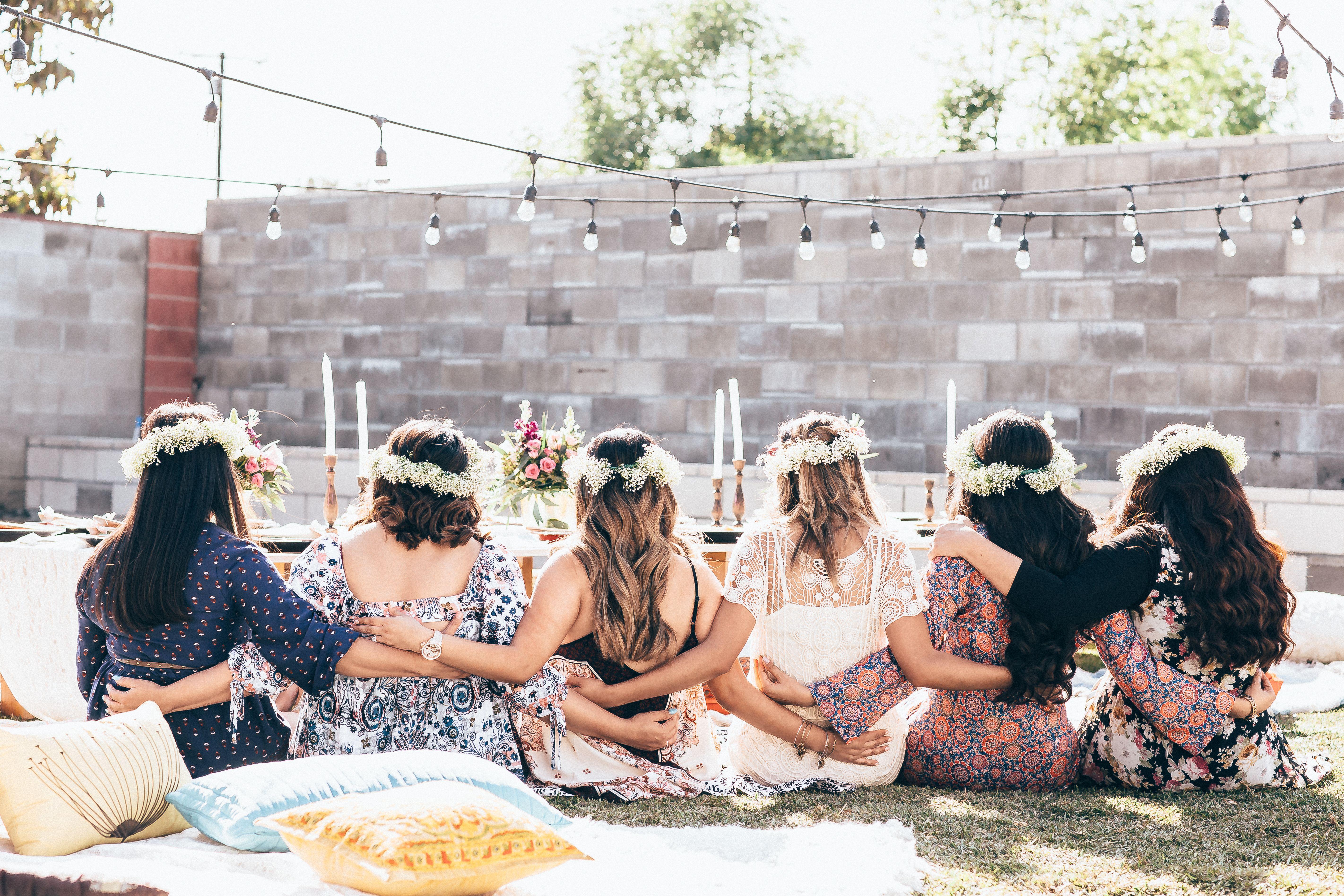 Backyard Bohemian Bridal Shower | Bridal shower, Backyard ...