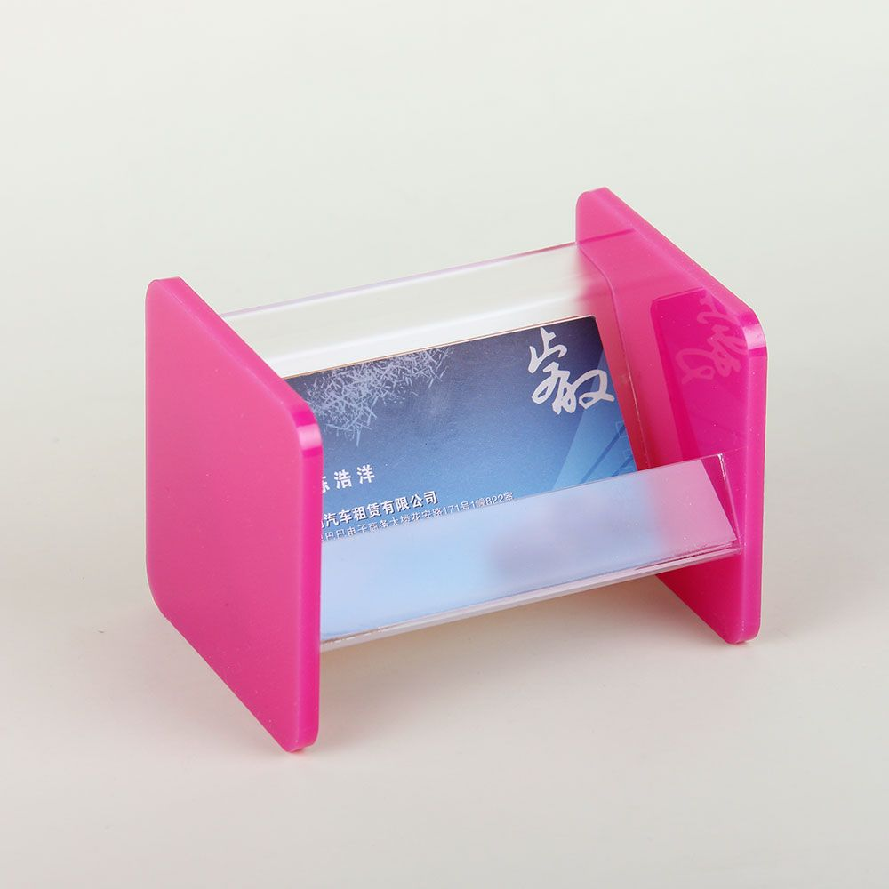 Square simple clear acrylic business card holder perspex name card ...