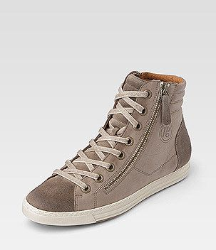 paul green high top sneaker beige brown sneakers. Black Bedroom Furniture Sets. Home Design Ideas