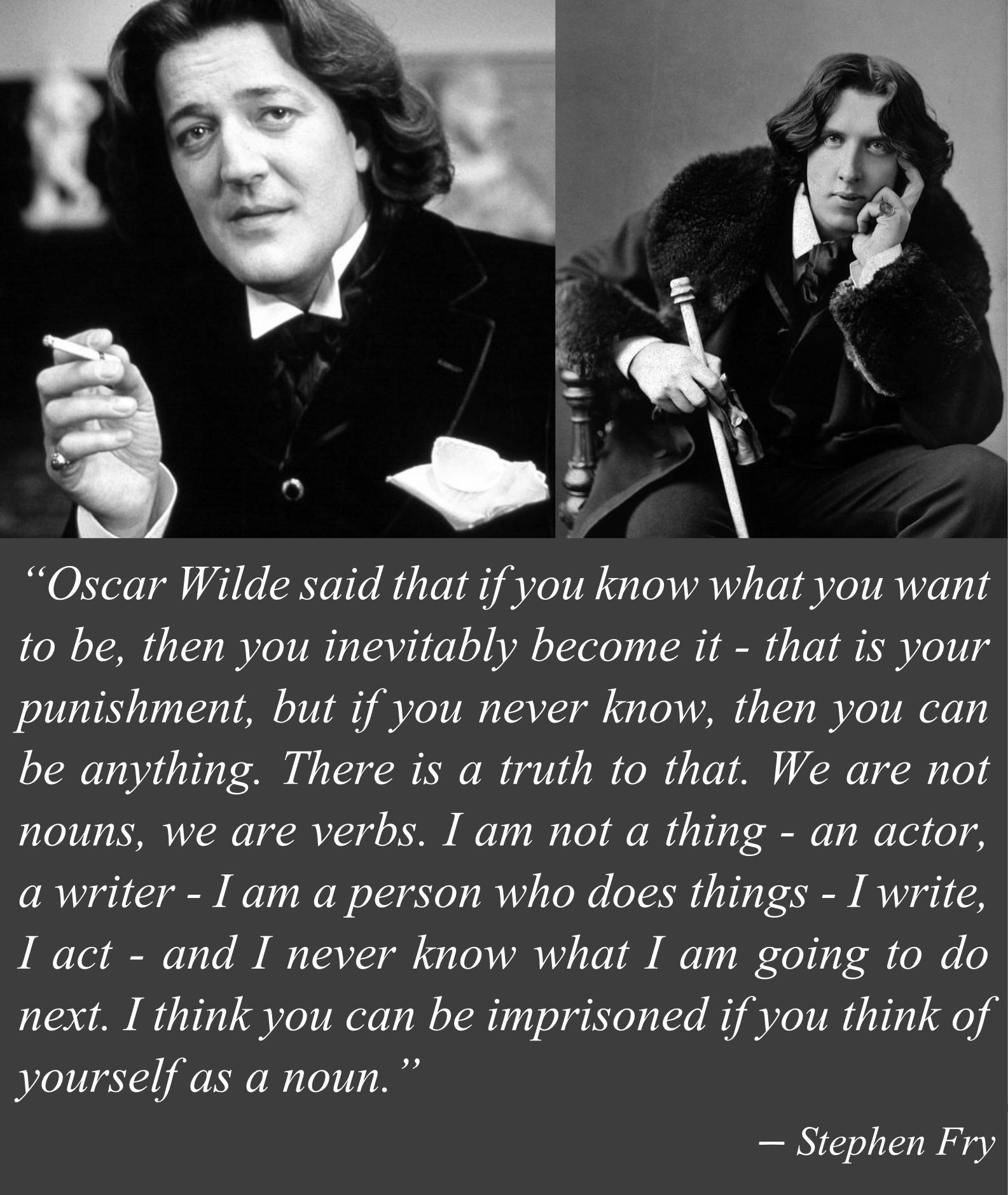 stephen fry on oscar wilde identity nouns and verbs image via stephen fry on oscar wilde identity nouns and verbs image via