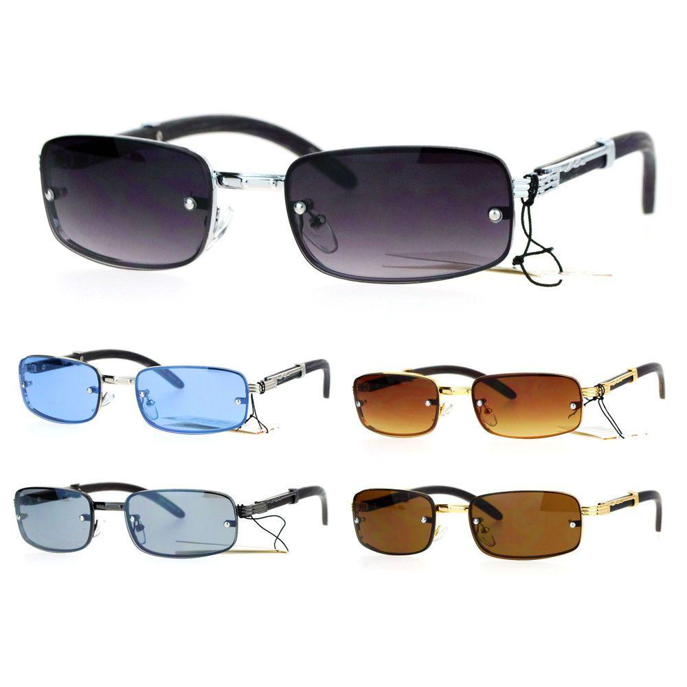 74f3164d76db SA106 90s Hip Hop Rapper Luxury Fashion Rectangular Rimless Mens Sunglasses