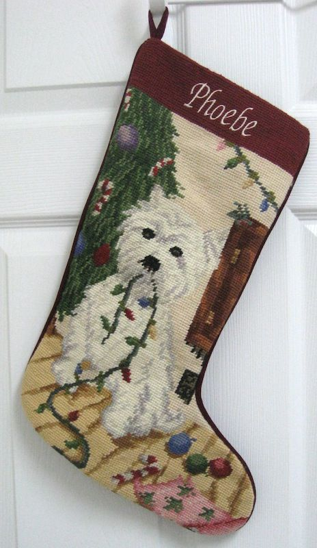 Dog Breed Personalized Needlepoint Christmas Stockings...going ...