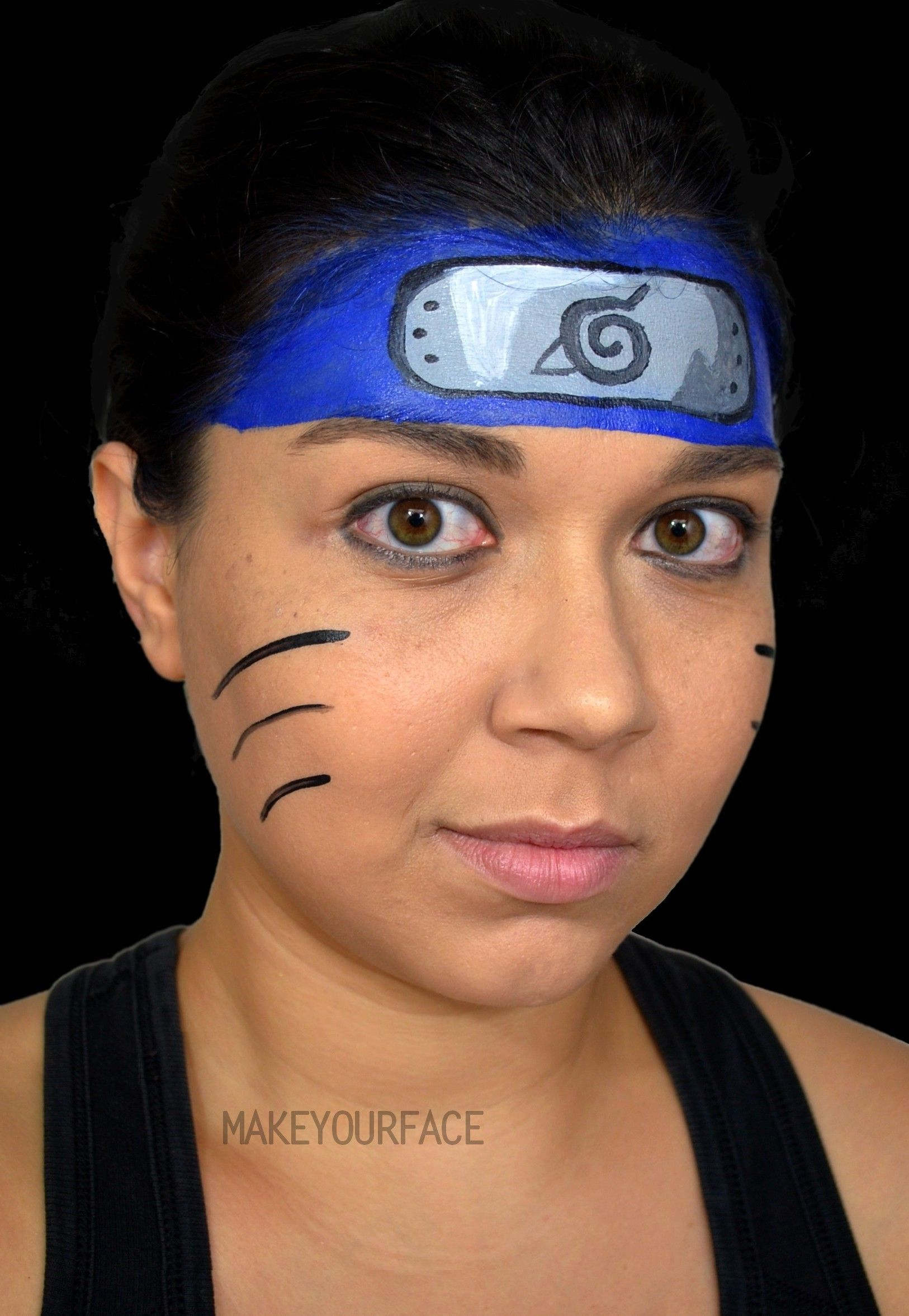 See Naruto Makeup Tutorial Http Youtu Be Cxnsbkrtniq Superhero Face Painting Face Painting Easy Kids Face Paint