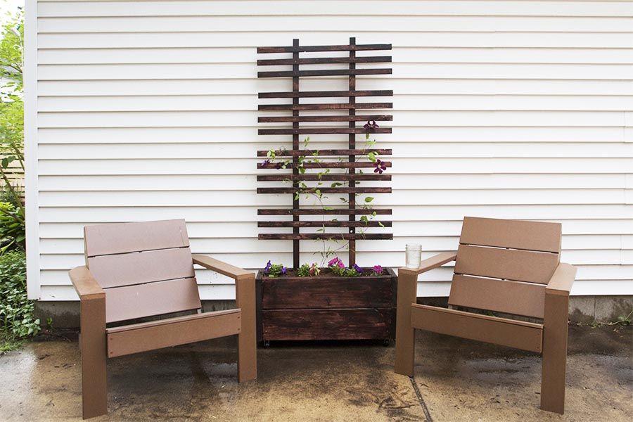 Diy large wooden planter box planter trellis diy