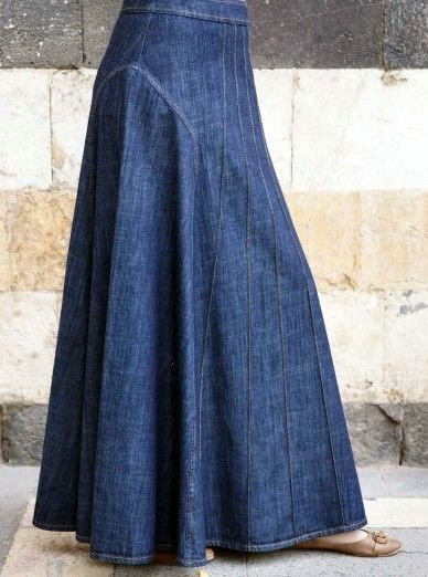 Jeans Rock lang in 2020 | Outfit jeans, Outfit, Kleider
