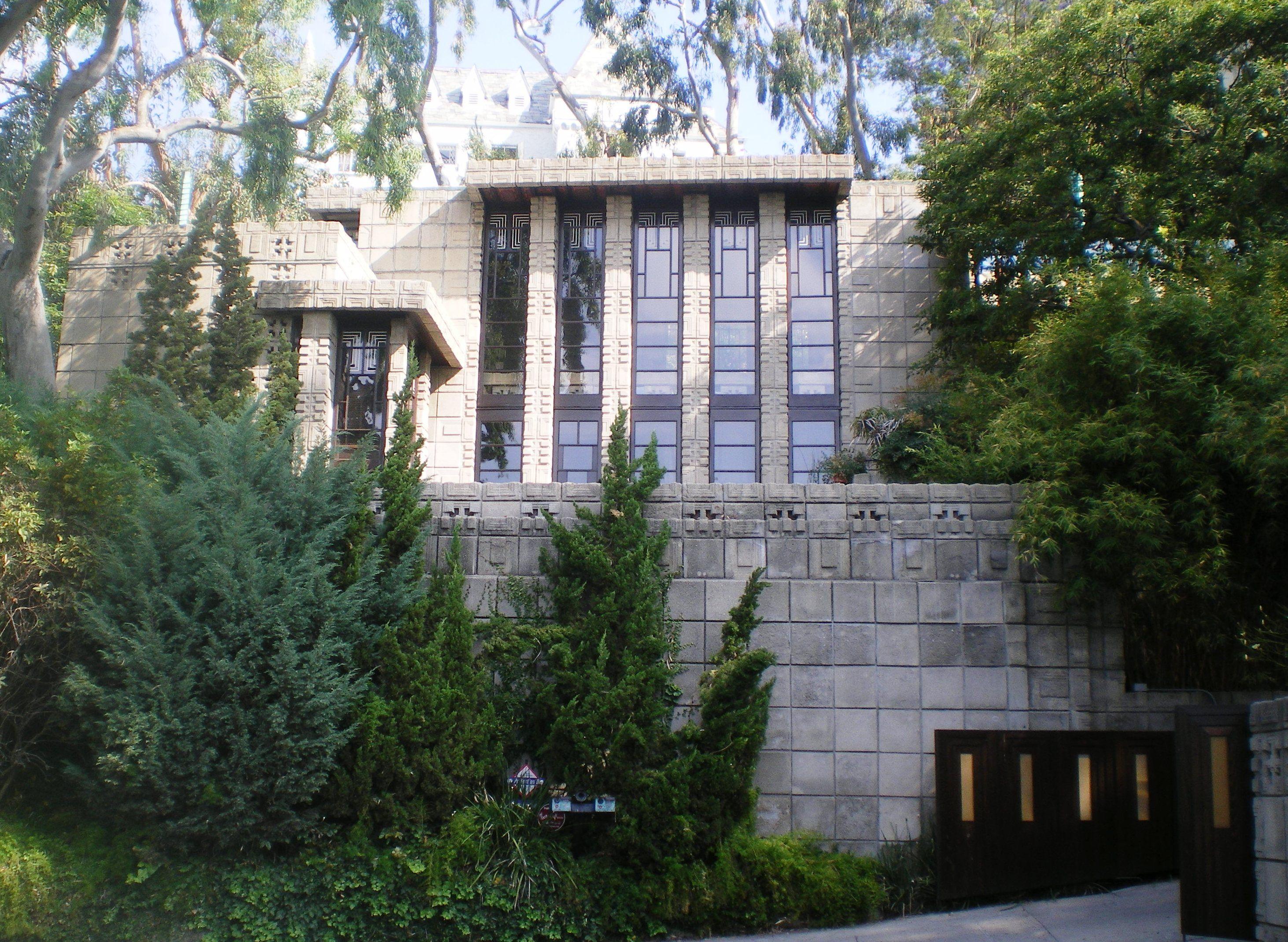 Storer House 1923 Frank Lloyd Wright 8161 Hollywood Blvd Los Angeles California