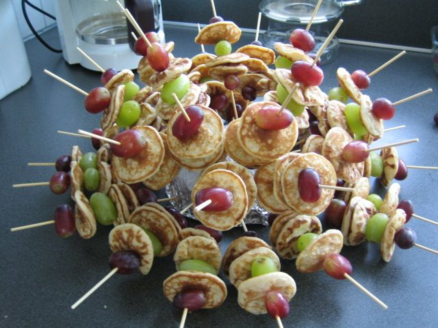 Natuurlijk waren er ook gezonde ouders, die fruitspiesjes maakten