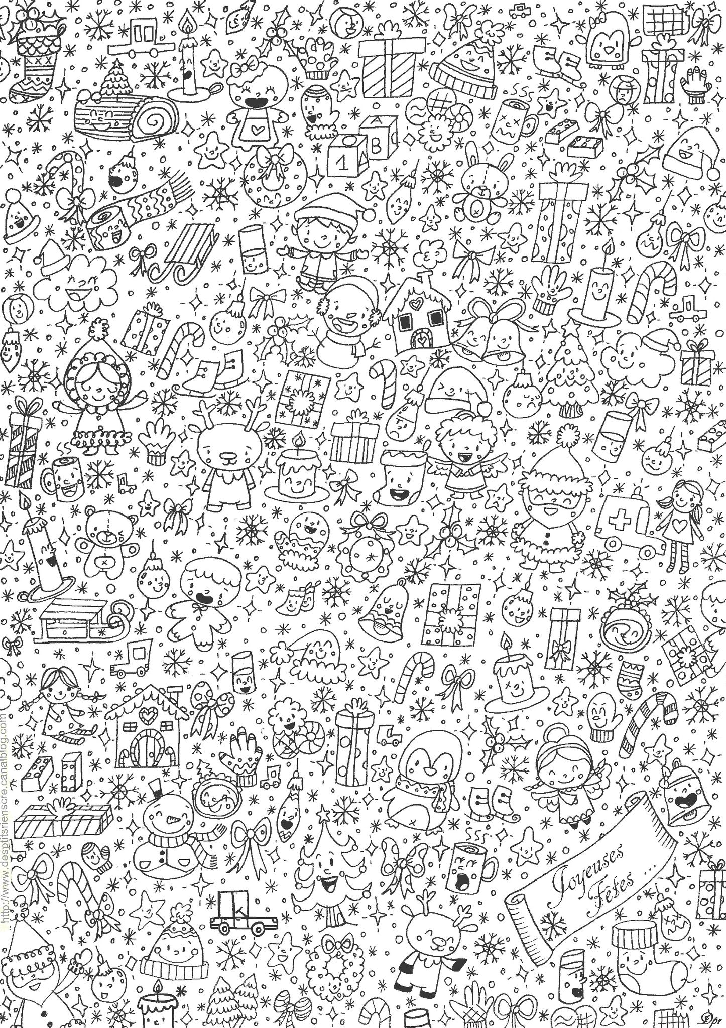 De Stress with this holiday coloring page