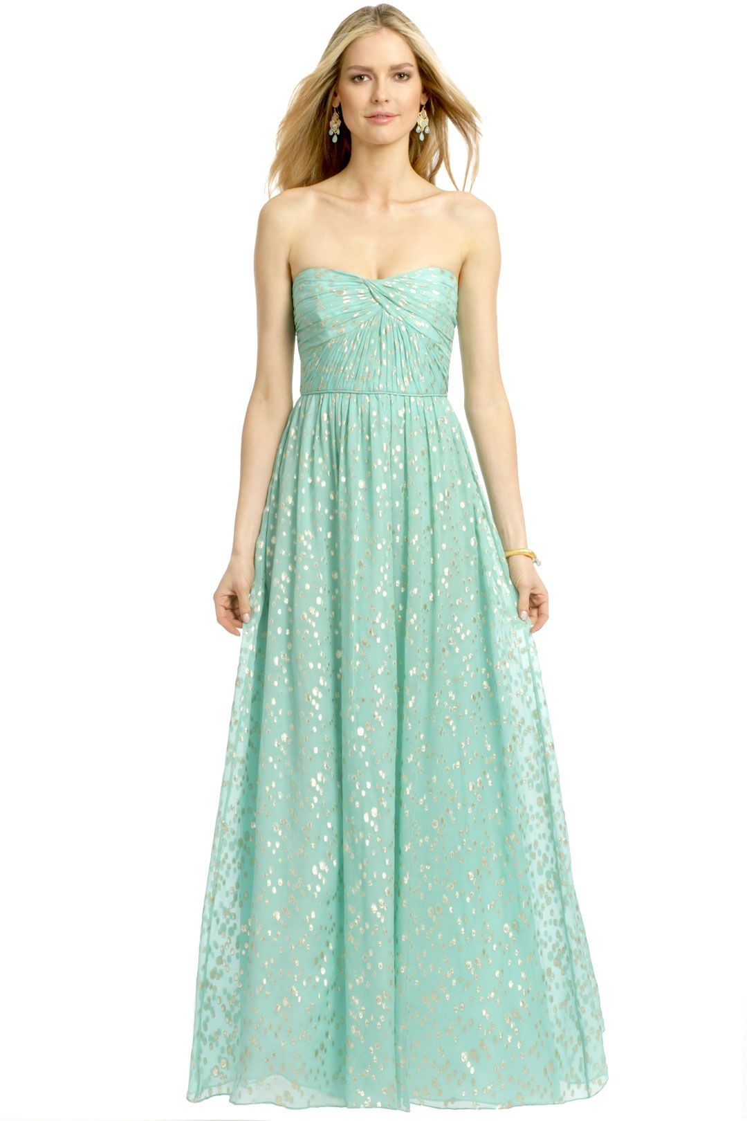Jennifer maxi mint gold weddings and wedding