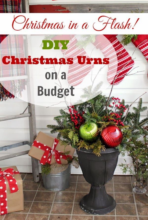 How to make beautiful, professional looking Christmas urns