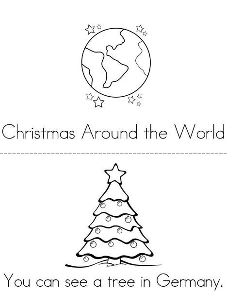 Christmas Around the World Mini Book from TwistyNoodle.com - Christmas Around The World Mini Book From TwistyNoodle.com