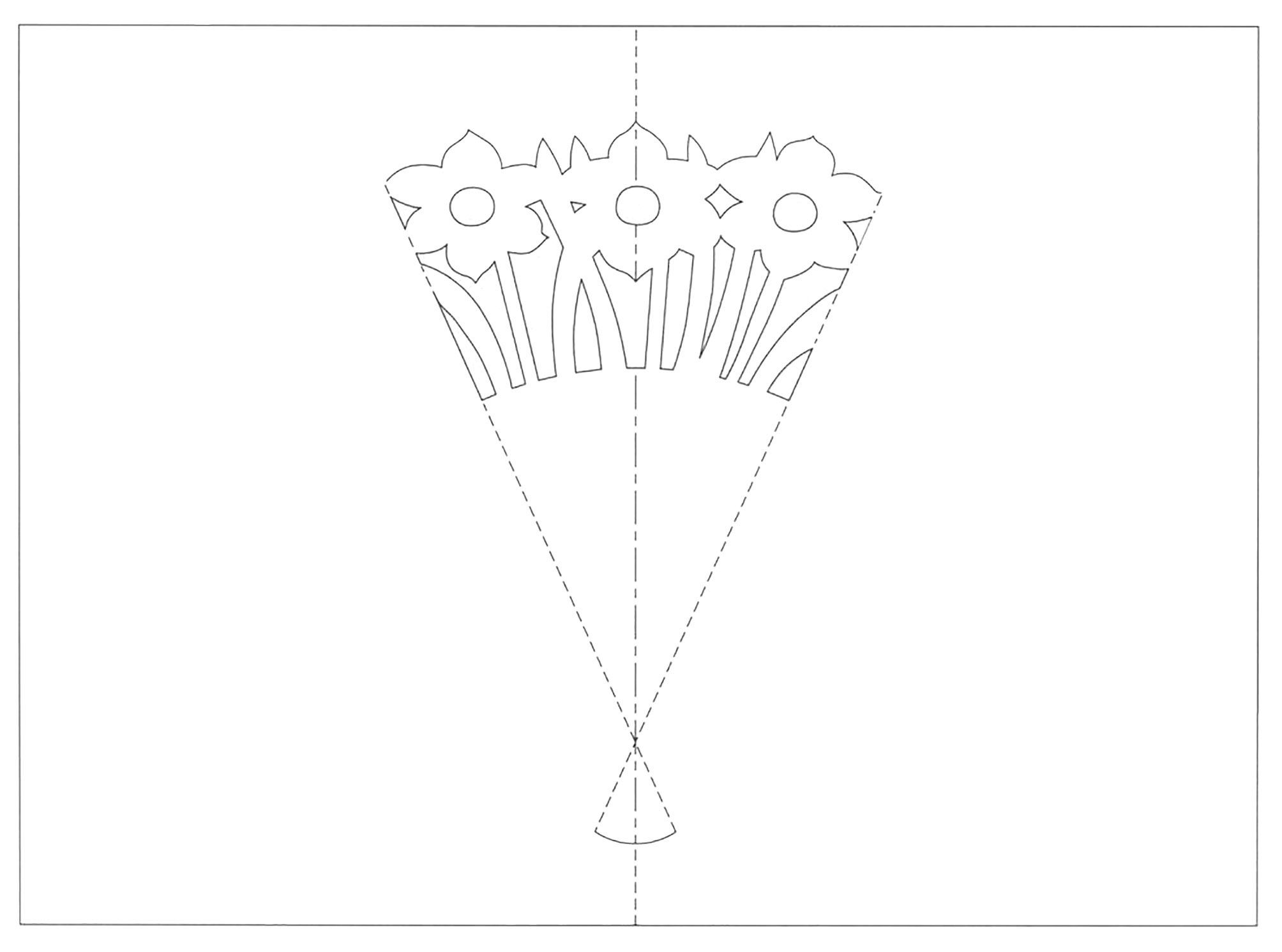 Pop Up Card With A Flower Bouquet Mashustic Com Paper Flower Bouquet Cards Paper Flowers