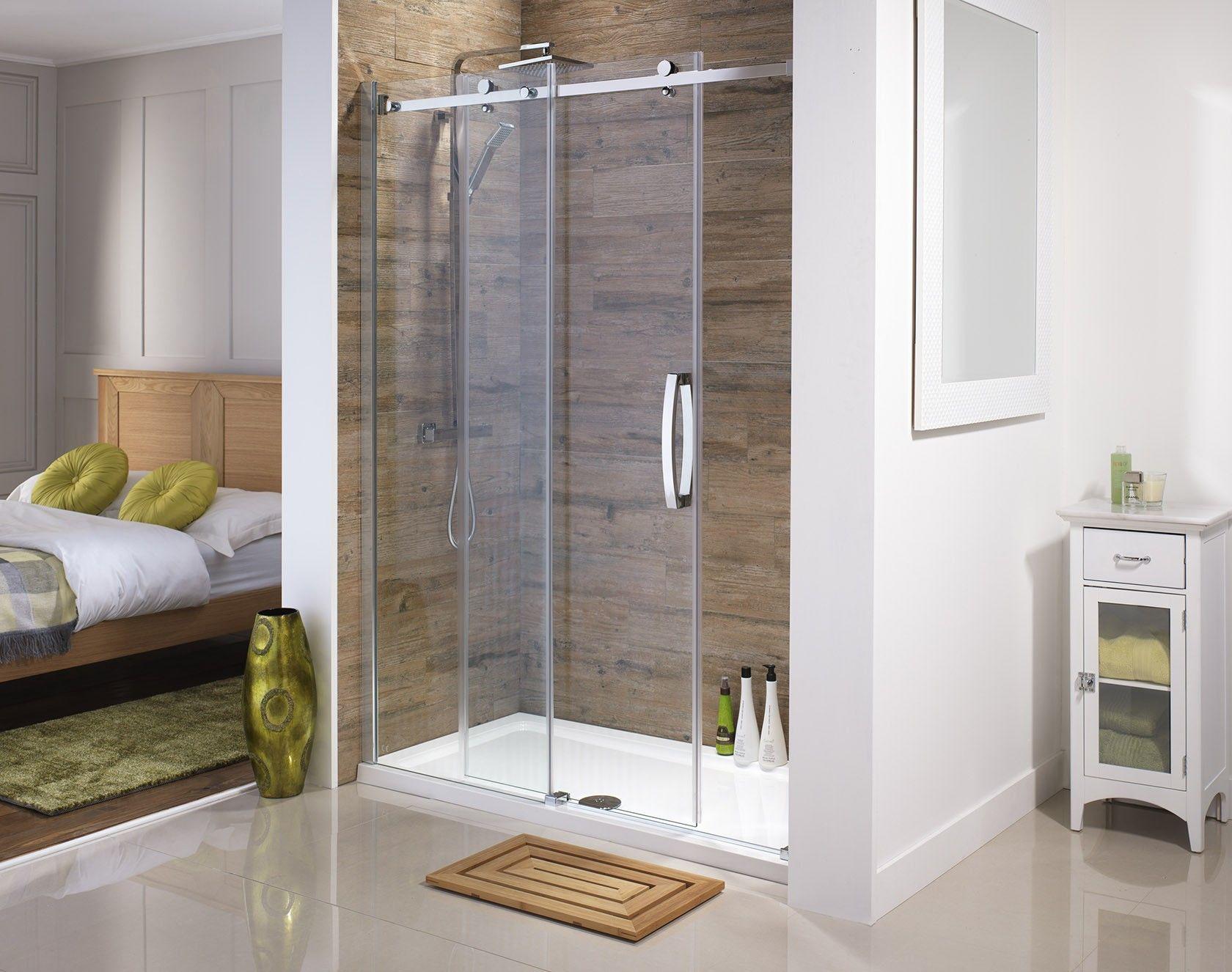 Orca Frameless 1400mm Sliding Shower Door From Serene Bathrooms Shower Doors Sliding Shower Door Minimalist Bathroom
