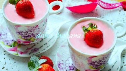 موس الفراولة بالزبادي Desserts Arabic Sweets Food