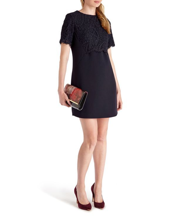 Ted Baker Annita Lace Detail Shift Dress