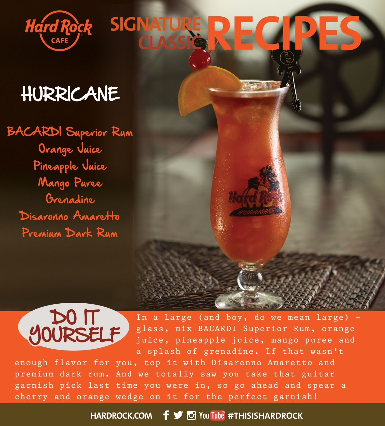 Hurricane Cocktail Recipe Hard Rock Cafe