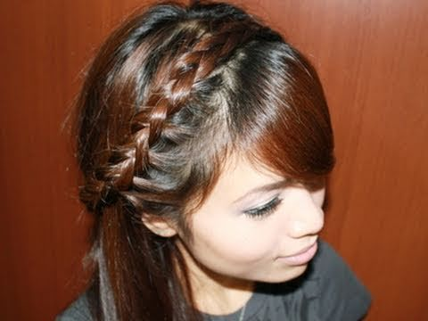 Trenza invertida en diadema.. half dutch headband braid!