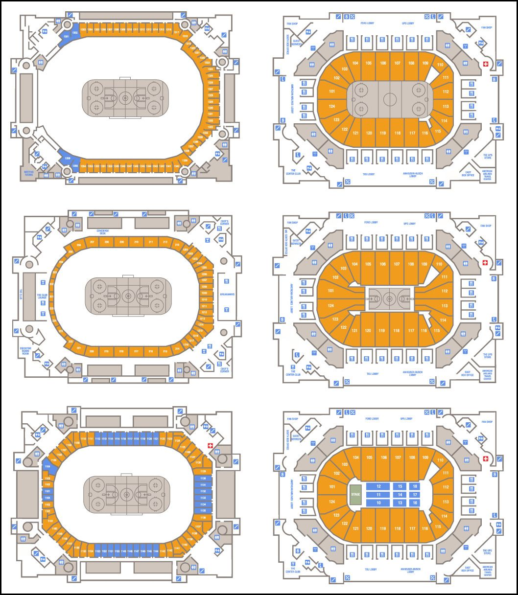 Floorplan And Seating Plan For American Airlines Center In Dallas Tx