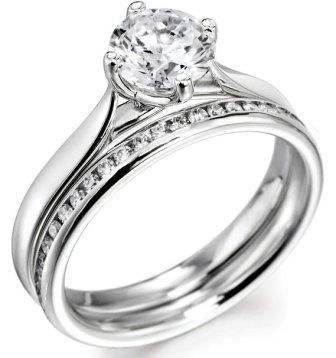 Engagement Ring And Wedding Bridal Set09 336x358 Pixels
