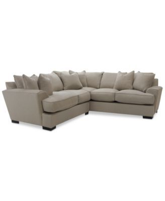 Awe Inspiring Ainsley 2 Piece L Shaped Fabric Sectional With 6 Toss Pabps2019 Chair Design Images Pabps2019Com