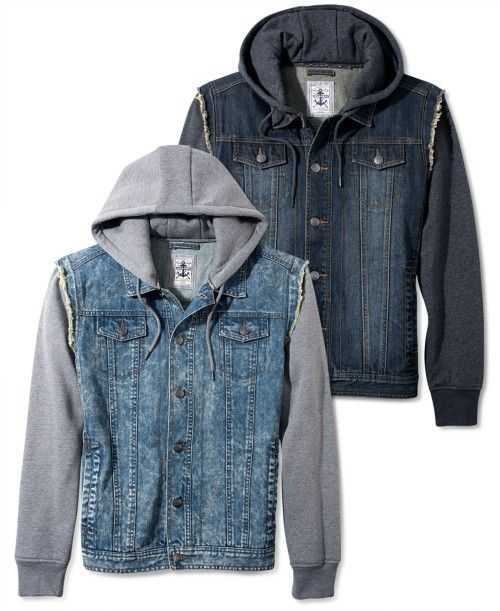 17 Best images about Denim Hoodie on Pinterest | Sporty, Jean vest ...