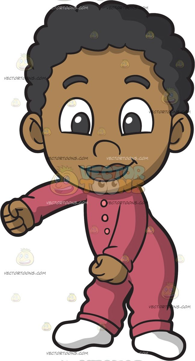 Black Baby Boy Doing The Floss Dance Curly Hair Cartoon Black Baby Boys Cartoon Hair