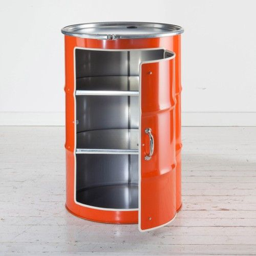 Bidon meuble orange bidon d 39 huile recycl a for Meuble orange