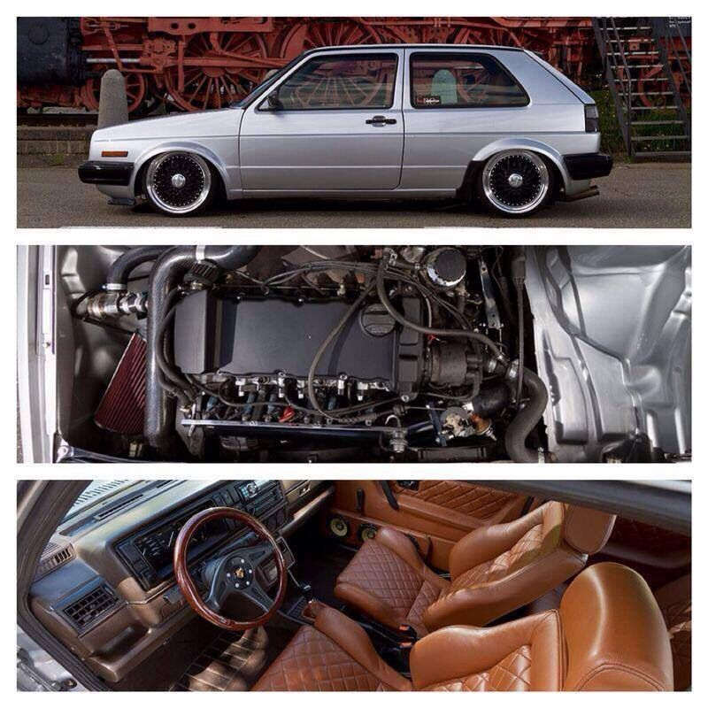 Mk ii with a nice classy interior and an aggressive vr6 for Interior golf mk2